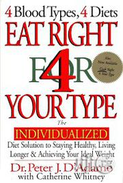 4 Blood Types, 4 Diets, Eat Right For Your Type | Books & Games for sale in Kwara State, Ilorin West