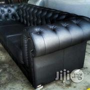 Black Leather Chesterfield Sofa Set | Furniture for sale in Abuja (FCT) State, Asokoro