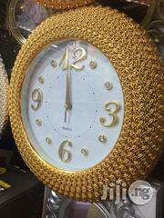Golden Battery Wall Clock/Gift Clock. | Home Accessories for sale in Lagos State, Lagos Island