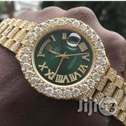 Rolex All Stone Green Face Gold Wrist Watch | Watches for sale in Lagos State, Ikeja