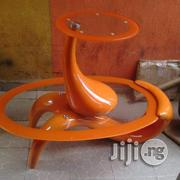 Coffee Center Table With 2 Side Stools Orange Colour | Furniture for sale in Lagos State, Ojo