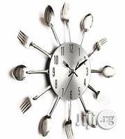Cutlery Silver Design Wall Clock | Home Accessories for sale in Lagos State, Maryland