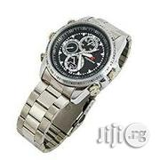 32gb Spy Video Camera Chain Wrist Watch - Silver | Security & Surveillance for sale in Lagos State, Ikeja