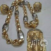 Pure Real Gold 750 Italy Gold 18karrat Bullet Versace Chain   Jewelry for sale in Lagos State, Yaba
