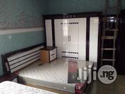 Brand New Imported Bed With Dressing Mirror and Wardrobe   Furniture for sale in Lagos State, Ojo