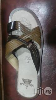 Italian Leather Slippers For Men Size 48   Shoes for sale in Lagos State, Surulere