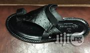 Re Ferdinando Italian Black Leather Slippers   Shoes for sale in Lagos State, Surulere