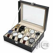 USA Readaeer Glass Top 10 Watch Box Case Organizer For Men & Women | Watches for sale in Lagos State, Alimosho