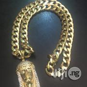 Pure 18carat Goldcuban Chain and Pendant   Jewelry for sale in Lagos State, Lagos Mainland
