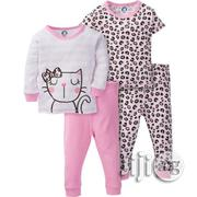 Gerber Cotton Pajamas, 4pc Set | Children's Clothing for sale in Lagos State, Lagos Mainland