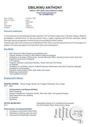 Human Resources Cv   Human Resources CVs for sale in Abuja (FCT) State