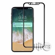 3D Tempered Glass Screen Protector for iPhone X - Black | Accessories for Mobile Phones & Tablets for sale in Lagos State, Lagos Mainland