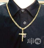 Mens Cuban Gold Chain and Cross Pendals Necklaces | Jewelry for sale in Lagos State, Surulere