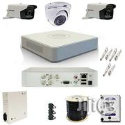 2 Outdoor EXIR Bullet / 1 Vandal-proof Dome HD 720p Hikvision Cameras   Security & Surveillance for sale in Lagos State, Ikeja
