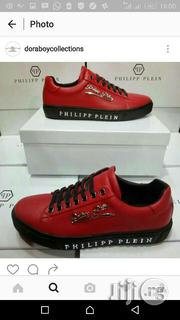 Philipp Plein Red Low Top Sneakers | Shoes for sale in Lagos State, Ojo