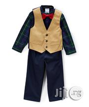 Mustard Twill Vest 4pc Set | Children's Clothing for sale in Lagos State, Lagos Mainland