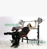 Commercial Bench Press With 100kg and Bar | Sports Equipment for sale in Lagos State, Surulere