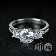 Splendid Diamond Sterling Silver Ladies US Engagement Ring - Silver | Wedding Wear for sale in Lagos State, Lagos Mainland