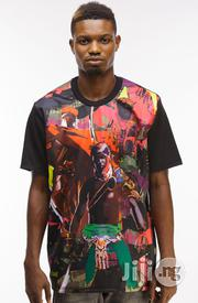 ADOT Warrior Print T-Shirt - Multicolour | Clothing for sale in Lagos State, Shomolu