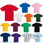 Children 100percent Plain Tee Shirt (Wholesale Only) | Children's Clothing for sale in Lagos State, Lagos Mainland