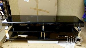 TV Stand With Curved Glass