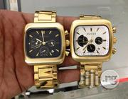 Gucci Coupe Quartz Chronograph Gold Steel Men's Watch | Watches for sale in Lagos State, Lagos Mainland