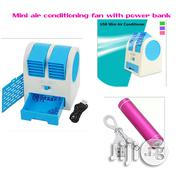 Mini Usb Fan/Air Conditional With Power Bank | Accessories for Mobile Phones & Tablets for sale in Lagos State, Surulere