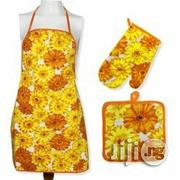 Kitchen Apron With Pot Holder And Mitten Quilted Set | Kitchen & Dining for sale in Lagos State, Lagos Island