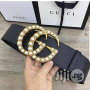 Ladies Gucci Pearl Designer Waist Real Leather Belt | Clothing Accessories for sale in Lagos State, Lagos Mainland