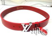 LV Designer Waist Real Leather Belt   Clothing Accessories for sale in Lagos State, Lagos Mainland