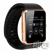 Ios and Android Simcard Enabled GT08 Smart Watch - Gold | Smart Watches & Trackers for sale in Lagos State