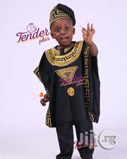 Cute Tenderplus Versace Embroidery Design Agbada And Cap   Children's Clothing for sale in Lagos State, Kosofe