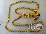 Brand New ITALY 18karat Gold Twisted Diamond Cut Wit Anchor | Jewelry for sale in Lagos State, Amuwo-Odofin