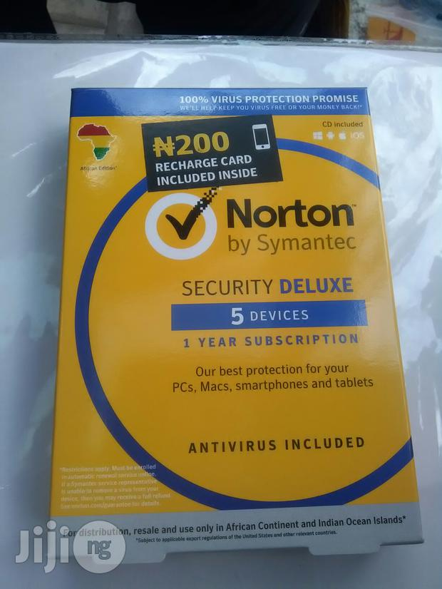 Norton 5 Devices Antivirus Included