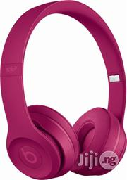 Beats Solo3 Wireless On-ear Headphones - Brick Red | Headphones for sale in Lagos State, Ikeja