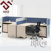 T Shape Office Panel With Glass Partition 2 Person Computer Desk | Furniture for sale in Lagos State, Ikeja