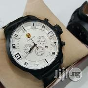 PORSCHE Black Crystal Chronograph Leather Strap Watch   Watches for sale in Lagos State, Surulere