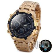Quamer Gold Black Face Led Digital Quartz Wrist Watches | Watches for sale in Lagos State, Surulere