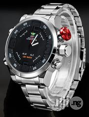 AMST Full Functional LED Display Bracelet Watch - Silver - Blackface   Jewelry for sale in Lagos State, Agege