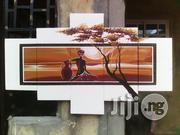Sunset Aftican Woman Artwork Hand Painted (White)   Arts & Crafts for sale in Lagos State, Ikoyi