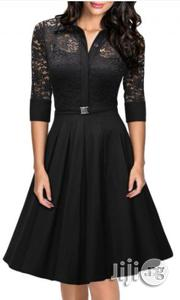 Lace Retro Gown Black | Clothing for sale in Lagos State, Lagos Mainland