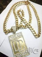 18carat Gold Cuban Chain and Dc Pendant | Jewelry for sale in Lagos State, Yaba