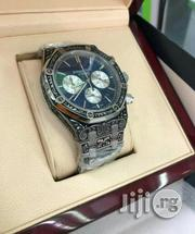 AUDEMARS Piguet Chronogragh Silver Crest Black Crystal Chain Watch   Watches for sale in Lagos State, Surulere