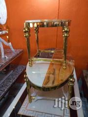 Quality Marble Center Table With Two Side Stools | Furniture for sale in Lagos State, Ikeja