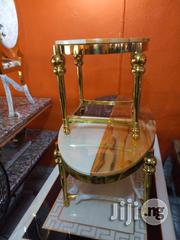 Good Quality Marble Center Table With Two Side Stools | Furniture for sale in Lagos State, Ikotun/Igando