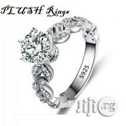 Plush Engagement Rings - 1.5 Carat CZ White-Gold Plated Proposal   Wedding Wear for sale in Rivers State, Port-Harcourt