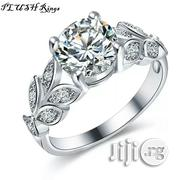 Plush Engagement Rings - Silver-Plated Leaf Themed | Wedding Wear for sale in Rivers State, Port-Harcourt
