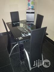 Unique Quality Glass Dining Table With Four Quality Chairs   Furniture for sale in Lagos State, Ikeja