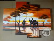 Elephants Meeting Hand Painted Artworks | Arts & Crafts for sale in Abuja (FCT) State, Asokoro