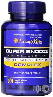 Super Snooze Night Sleep Aid Complex With Melatonin For Good Sleep | Vitamins & Supplements for sale in Lagos State, Victoria Island